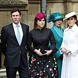 Princess Eugenie's Paint Splatter Coat Easter 2018