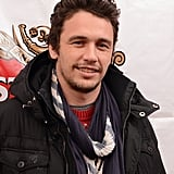 James Franco stayed cozy in a scarf at Sundance.