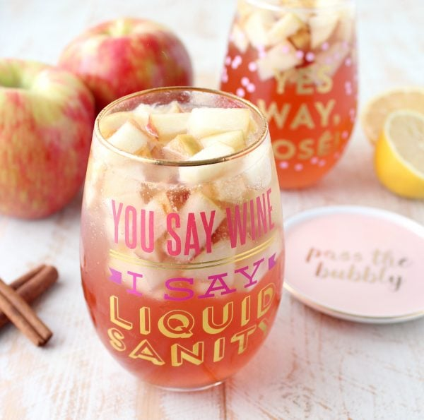 Honey Apple Rosé Sangria