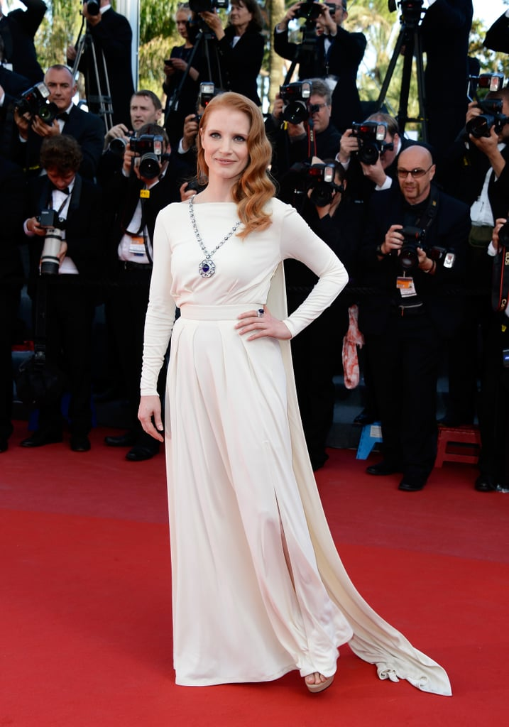 Jessica Chastain wowed in jewels that belonged to Elizabeth Taylor at the 50th anniversary viewing of Cleopatra.