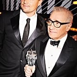 Leonardo DiCaprio and Martin Scorsese hung out backstage.