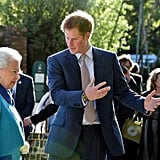 Prince Harry was his grandmother's date to the Chelsea Flower Show in 2015.