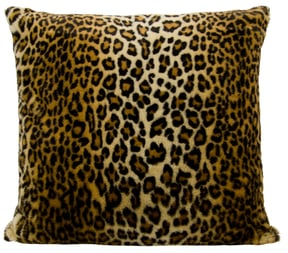 Leopard Faux Fur Pillow ($99)