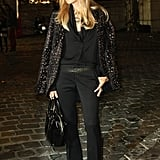 Rachel Zoe posed before heading into the Lanvin show.
