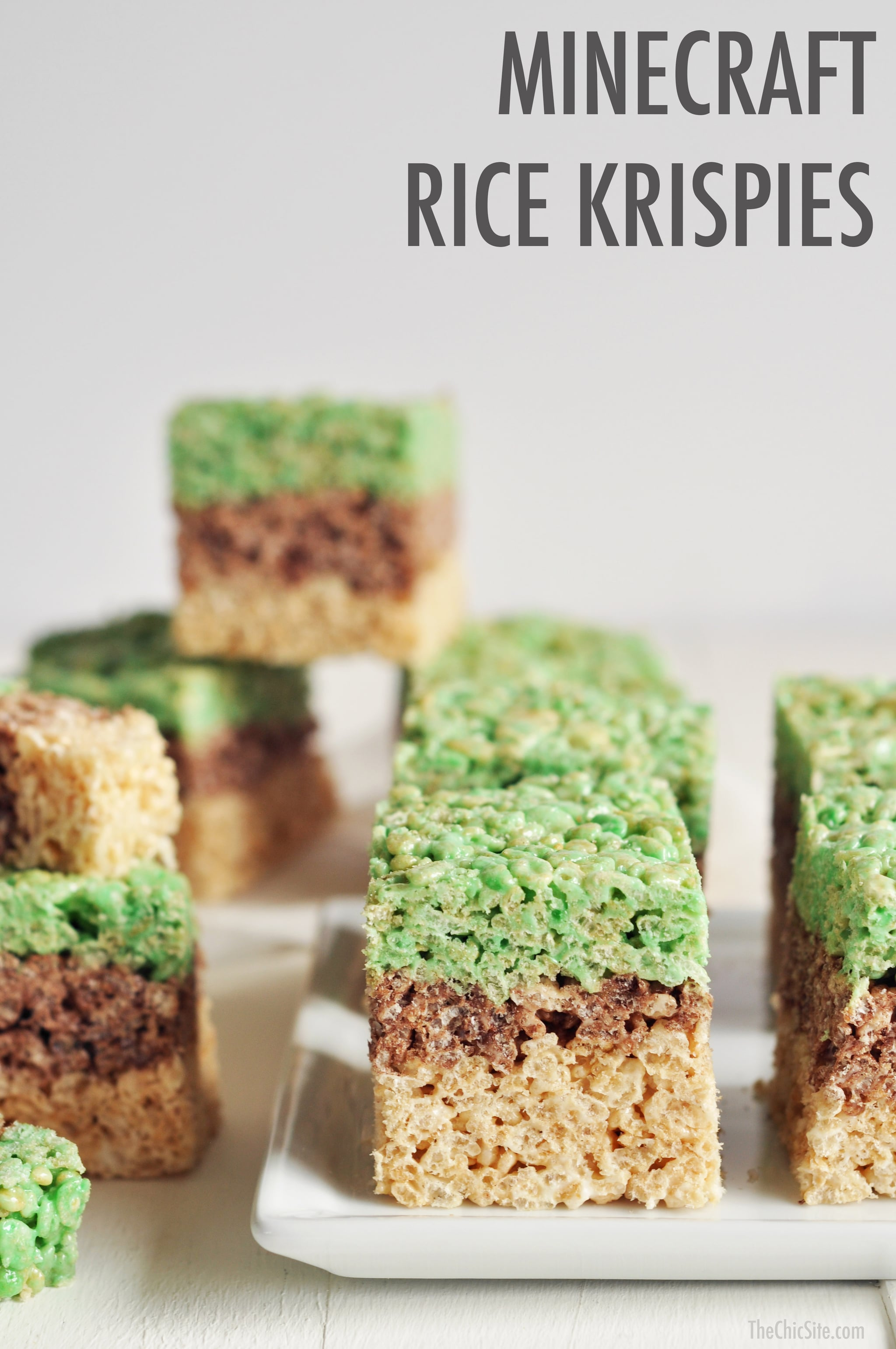 Minecraft desserts popsugar moms with the kids loving minecraft more than ever today were sharing her fun recipe for minecraft rice krispies treats forumfinder Images