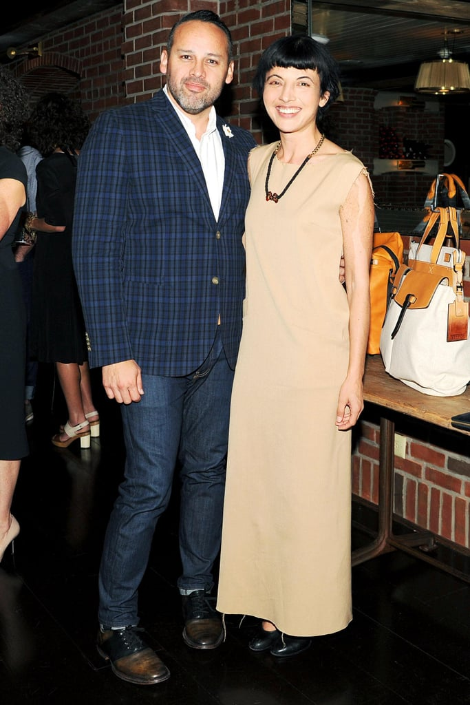 Tumi's new creative director, George Esquivel, feted the announcement with guests, including Julie Ragolia at New York's Lafayette.