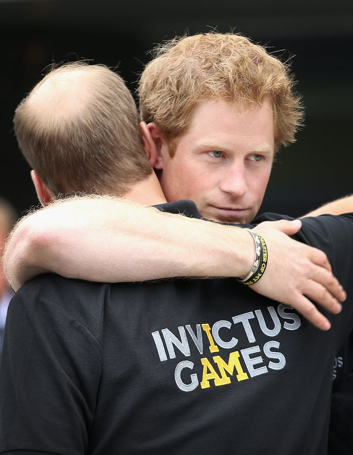 Prince william showed his support for his younger brother for Brother support