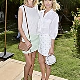 Rosie Huntington-Whiteley and Kate Bosworth took a refreshing approach to festival dressing in breezy soft hues at the Coach Backstage event.