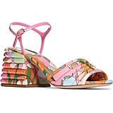 Fendi Promenade Block Heel Sandals
