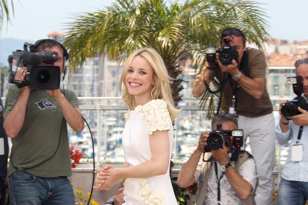 Rachel smiled for the flashbulbs at the Cannes Film Festival in 2011.