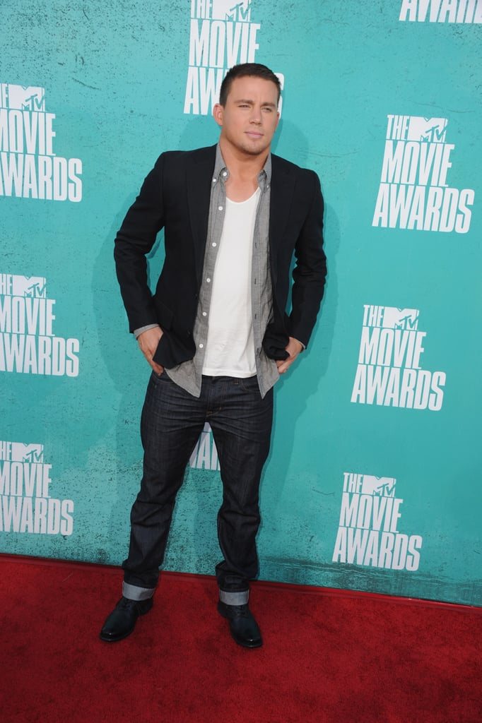 Channing Tatum posed at the MTV Movie Awards.