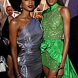 Ebonee Davis and Cindy Bruna at the 2019 Diamond Ball