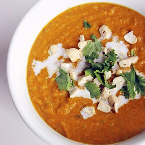 A Light Version of Coconut Curry Butternut Squash Soup