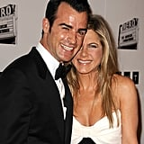 Jennifer Aniston and fiancé Justin Theroux stepped out together in LA.