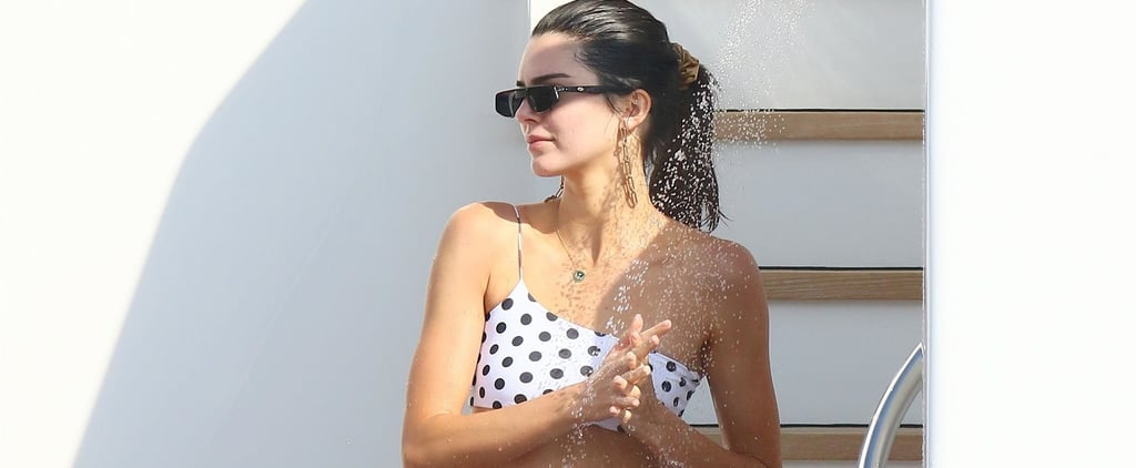 Kendall Jenner Polka Dot Bikini in Cannes May 2019
