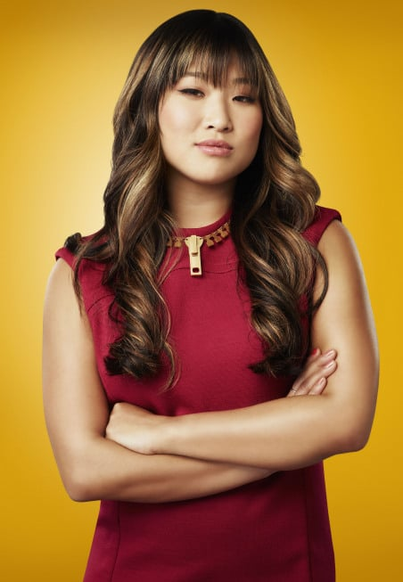 Jenna Ushkowitz as Tina Cohen-Chang on Glee.