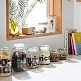 Small Clipped Glass Storage Jar