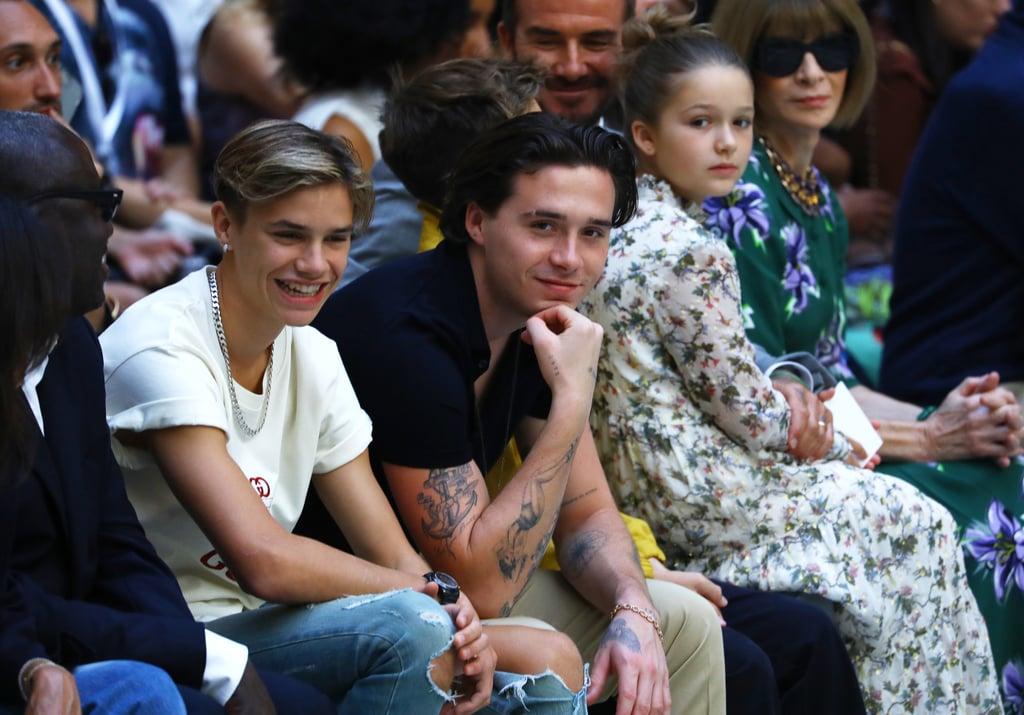 Beckham Family at Victoria Beckham Spring 2020 Fashion Show