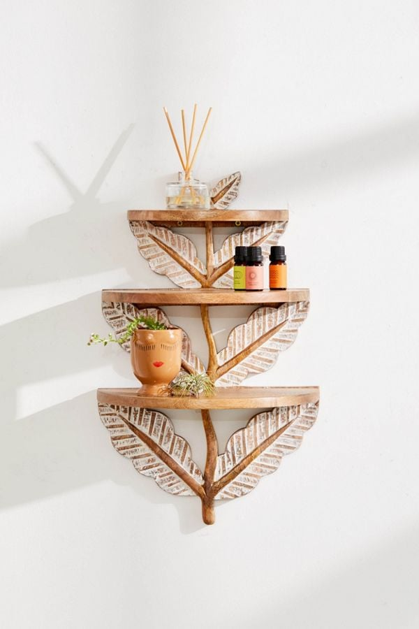 Laurel Floral Tiered Wall Shelf