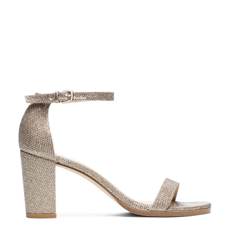 Nearlynude Sandal in Noir Platinum ($398)