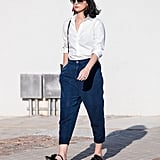 Style a Classic Button-Down With Capris