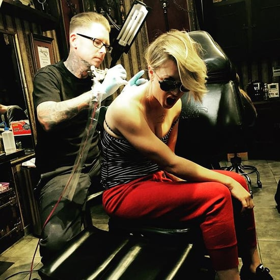 Kaley Cuoco Gets Wedding Date Tattoo Covered Up