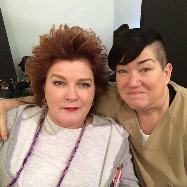 Kate Mulgrew and Lea DeLaria got back to work. Source: Instagram user oitnb