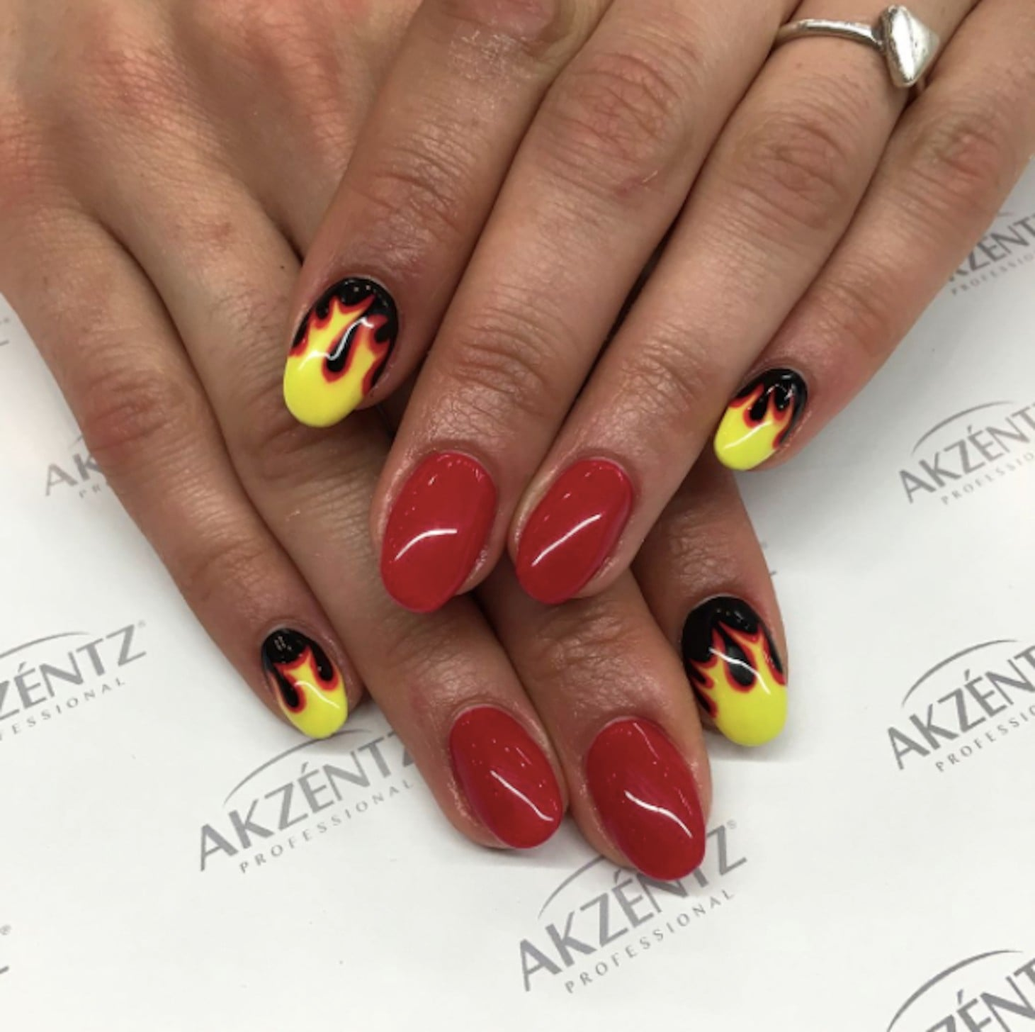 Flame Nail Art | POPSUGAR Beauty