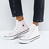 Converse Chuck Taylor All Star Velvet Hi Top Sneakers in Pink