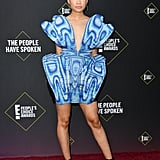 Storm Reid's Top Knot at the People's Choice Awards 2019