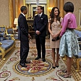 The Obamas discussed Will and Kate's Summer trip to California during a visit to Buckingham Palace.