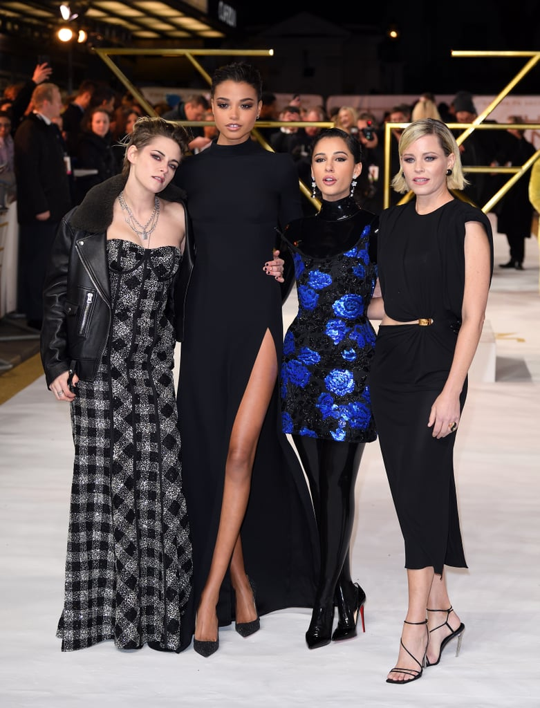Kristen Stewart, Ella Balinska, Naomi Scott, and Elizabeth Banks at the Charlie's Angels Premiere