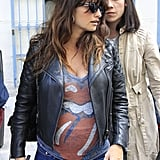 Penélope Cruz had lunch in Madrid.