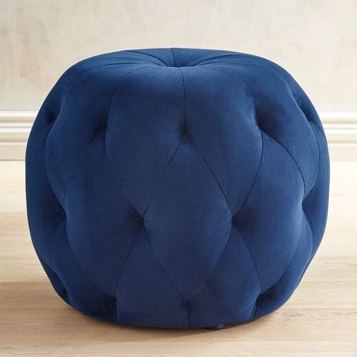 Ormand Collection Navy Tufted Ottoman