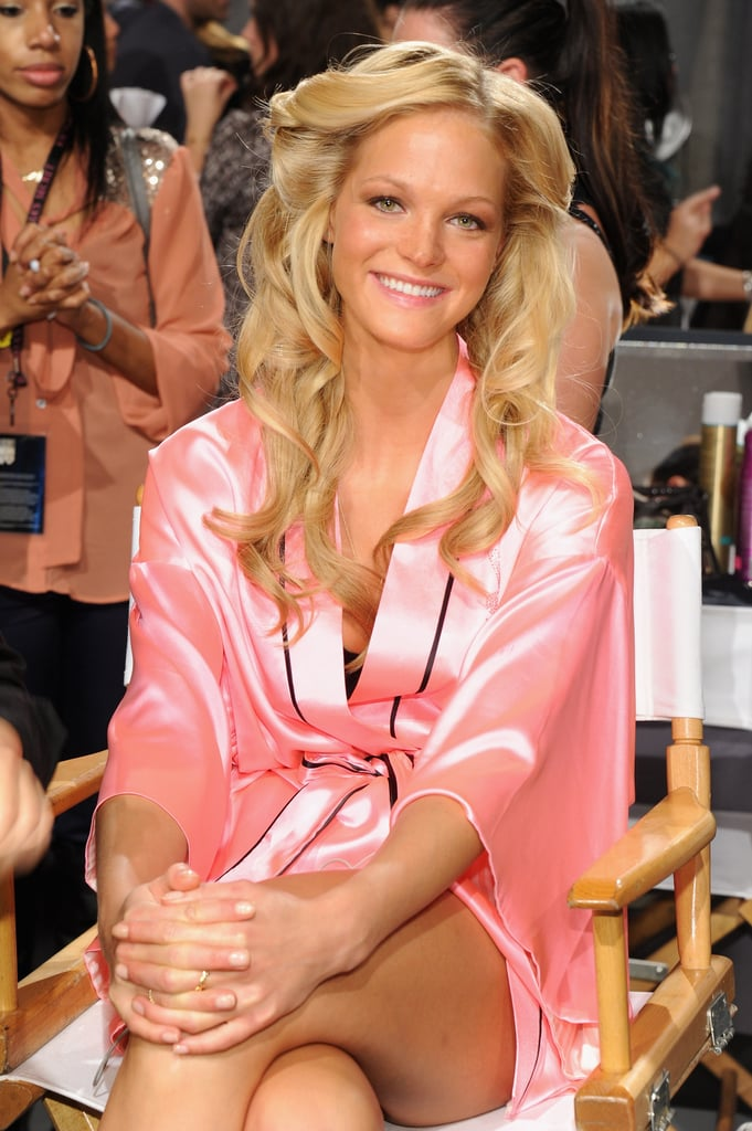 Erin Heatherton, sitting pretty.