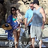Jenna Dewan sported a teal bikini during a family vacation in Puerto Rico.