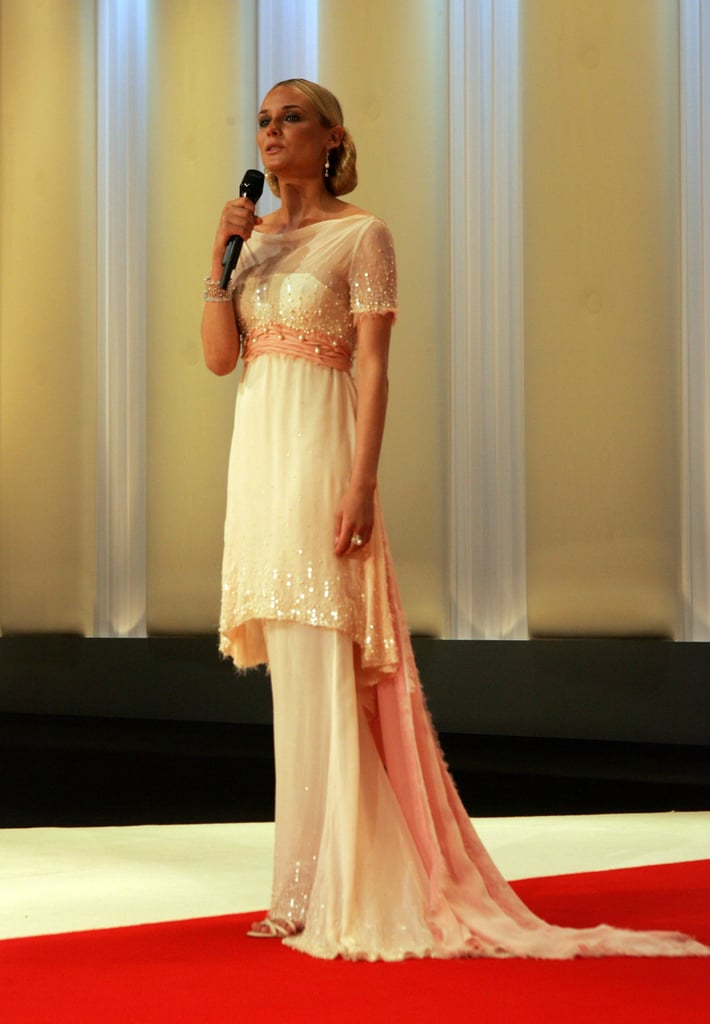 The Cannes mistress of ceremonies wore a tiered Chanel gown to the opening night gala at the Palais des Festivals in 2007.