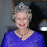The King George Vl Victorian Suite The sapphire and diamond necklace and earrings were a wedding gift to his daughter from King George VI, and 15 years later, the Queen commissioned a sapphire tiara and bracelet to be added to the set.
