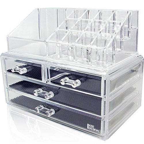 A modern take on a classic jewelry box, the Ikee Design Acrylic Jewelry & Cosmetic Storage ($15) is both functional and aesthetically pleasing. The lined drawers keep jewelry in place while the top section can hold up to 12 lipsticks and other makeup products — ideal to store on your bathroom countertop!