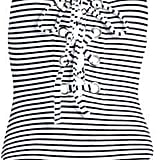 Mara Hoffman Terry Lace-up Striped Swimsuit