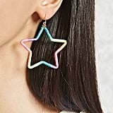 Rainbow Star Drop Earrings