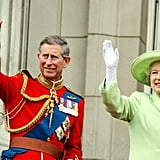 Pictured: Prince Charles, Queen Elizabeth II.