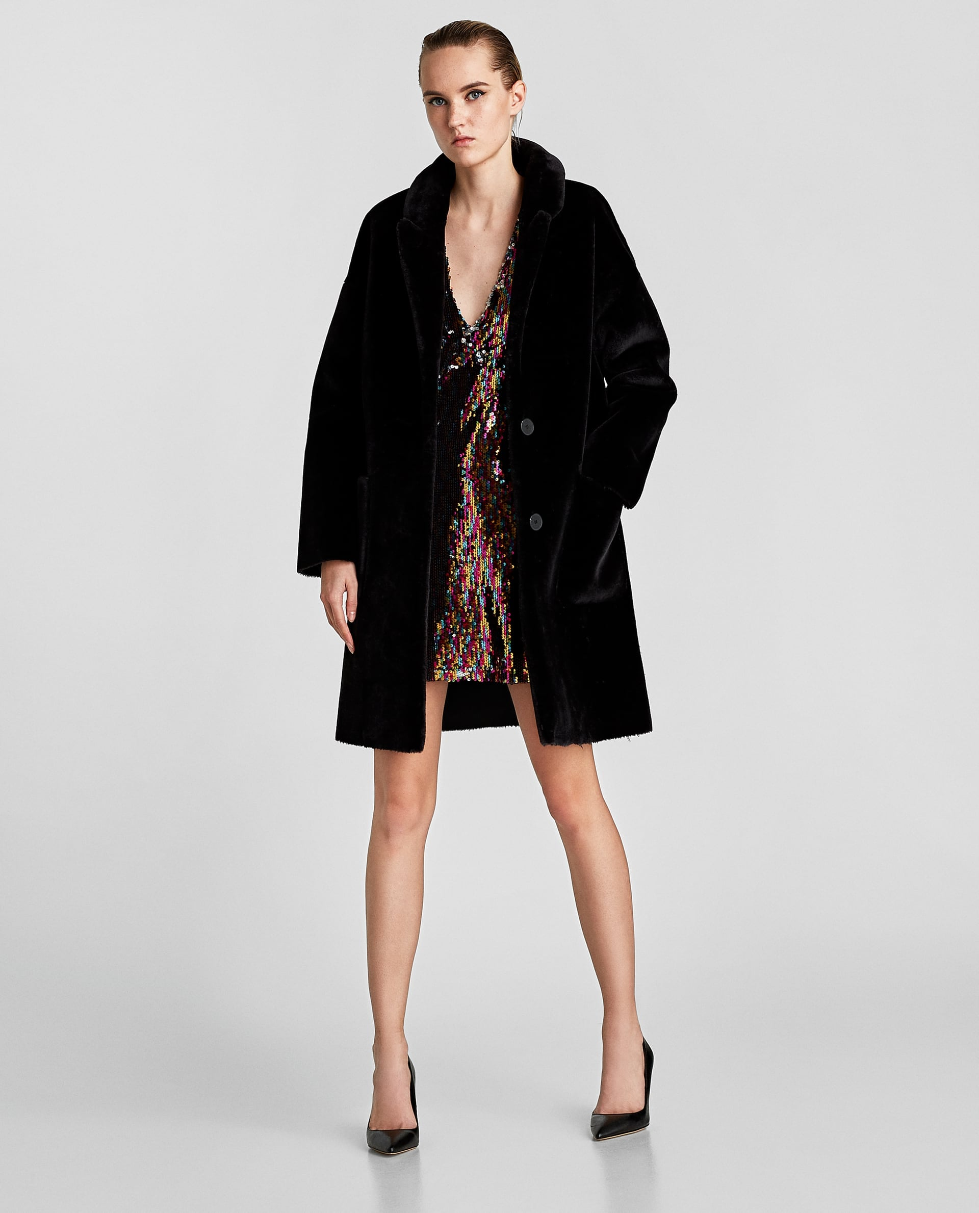08df8461 Zara Faux Fur Coat | We Can Only See Half of Kate Middleton's Regal ...