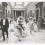 A pageboy led the way for Princess Diana and the wedding party.