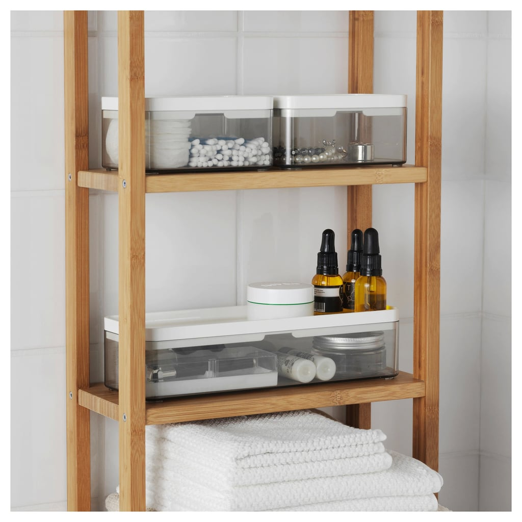 Bathroom Ikea Brogrund Set Of 3 Transparent Gray Boxes Best Organization Products Popsugar