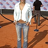 Is that you, Jessica Alba? Her low-rise sandblasted jeans and sexy white top supplied the actress with an edgier style in 2002.