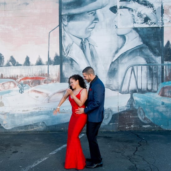 Glamorous City Engagement Shoot
