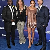 Jennifer Lopez, Randy Jackson, Ryan Seacrest, and Steven Tyler hung out after helping select the remaining 13 American Idol contestants.