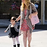 Sarah Michelle Gellar held her daughter Charlotte's hand on the way to her ballet class in LA.
