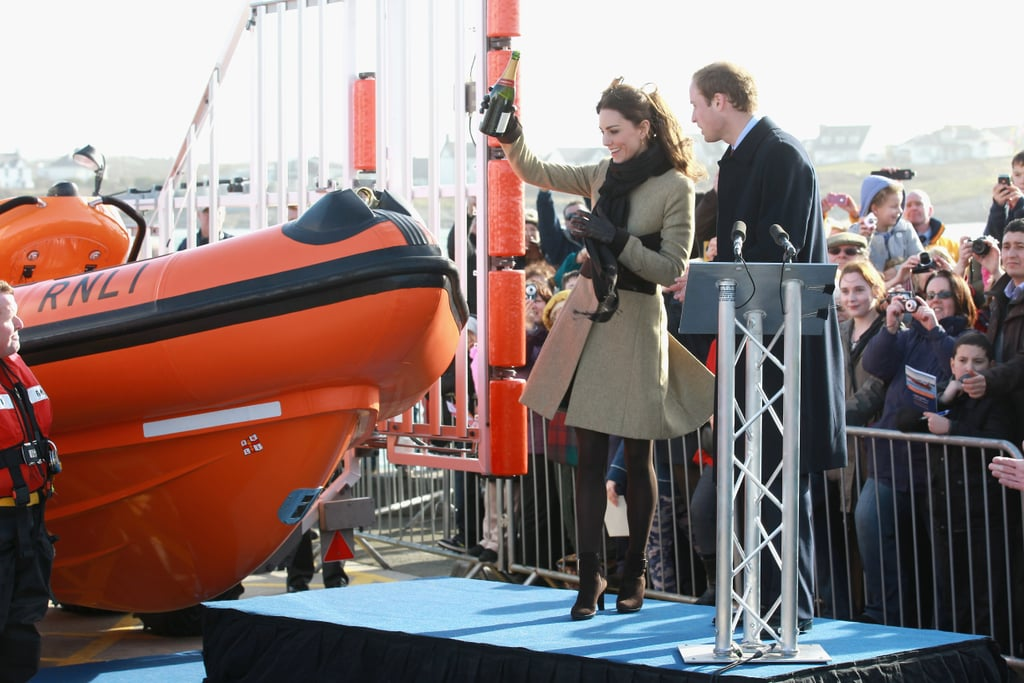 Pictures of Kate Middleton and Prince William on Their First Official State Task